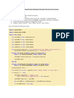 DatabaseOperation Access VBNET