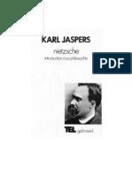 Karl  Jaspers.  Nietzsche. Introduction à sa philosophie