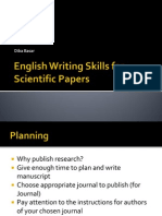 English Writing Skills for Scientific Papers