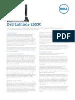 Dell Latitude e6530 Spec Sheet
