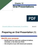 Ch12 Oral Presentations