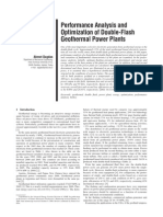 Performance Analysis and Optimization of Double-Flash Geothermal Power Plants.pdf