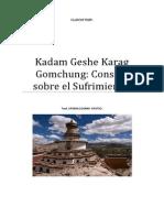 Kadam Geshe Karag Gomchung Consejo Sobre El Sufrimiento
