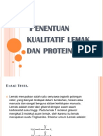 Penentuan Kualitatif Lemak Dan Protein