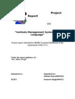 institute management using c language