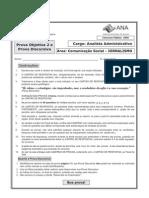 =(2 9) Esaf 2009 Ana Analista Administrativo Comunicacao Social Jornalismo Prova