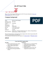 SWOT analysis of Coca Cola.docx