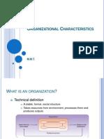 Organisational Characteristics