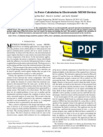 E457 a Sensitivity Approach to Force Calculation in Electrostatic MEMS Devices