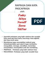 Kata Prafrasa & Pscafrasa