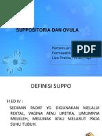 P-6 Suppositoria Dan Ovula