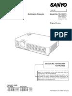 Sanyo Plc-xu75 Xu78 Service Manual