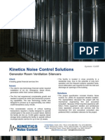 Generator Room Ventilation Silencers