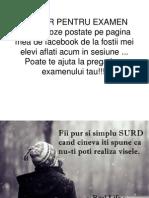 Ajutor Pentru Examen