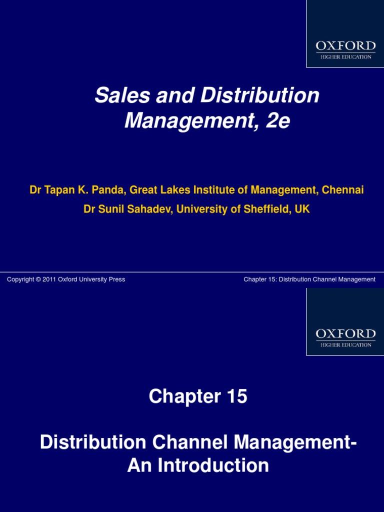 Distribution channel sales manager resume
