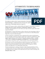 Com Star automotive technologies workers strike