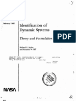 Identification of Dynamic Systems, Theory and Formulation