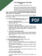 ESTUDIO DEL MINISTERIO DEL CORO SINAÍ