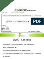 BORO Apresentação_Quimica_e_Fertilidade