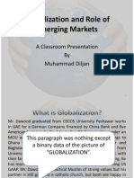 Globalization and Emerging Markets