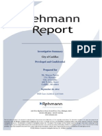 Investigative Summary - Rehmann Report