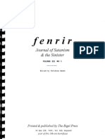 Fenrir Journal of Satanism and the Sinister Vol 3 No 1