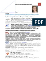 Catherine FILLARD CV Expériences professionnelles