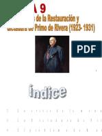 Tema 9. Crisis del régimen alfonsino y  Dictadura de Primo de Rivera.