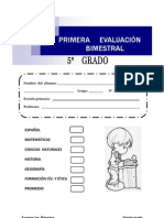 EXAMEN 1 BIM 5° GRADO