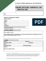 Formular Ordin de protectie