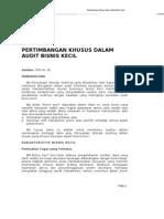 PSA No. 58 Pertimbangan Khusus Dlm Audit Bisnis Kecil (SA Seksi 710)