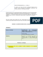 Actividades Del Curso Estructura Del Lenguaje de Programacin 1