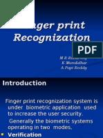 Finger Print Recognition (Rahul Raj)