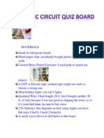 Electric Circuit Game Board Materials and Steps
