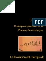 1.1 .Evolucion Del Concepto de Planeacion Estrategica