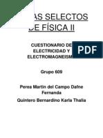 Cuestionario de Electromagnetismo