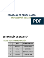 1 Presentación Programa Orden y Aseo