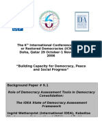 Ingrid Wetterqvist - Role of Democracy Assessment Tools in Democracy Consolidation_2006