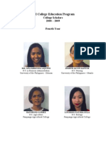 List of PDI Scholars for Year 2008-2009, By Project Development Institute