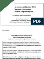 Некоторые важные события  2012, имеющие отношение   к проблеме атеросклероза , по мнению Н.А.Грацианского