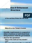 OIG - Suspension & Debarment Overview