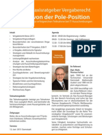 Seminar Praxisratgeber Vergaberecht - Starten von der Pole-Position