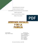 Derechos Sociales y de La Familia