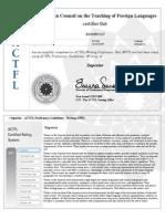 actfl certificate wpt