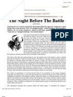 The Night Before the Battle