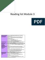 Reading List Module 3
