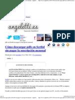 Cómo descargar pdfs en Scribd sin pagar la suscripción mensual - angeletti.es. Página de Pablo Angeletti Gascón
