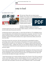 China and Economy to Lead Abe US Talks - FT