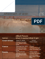 Evaluating the Treaty of Versailles