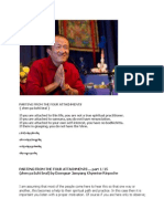"Dzongsar Jamyang Khyentse Rinpoche on ""PARTING FROM THE FOUR ATTACHMENTS"" (Seattle 2011)"
